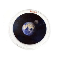 """Цветной диск """"Звездное небо с Землей и Луной"""""""
