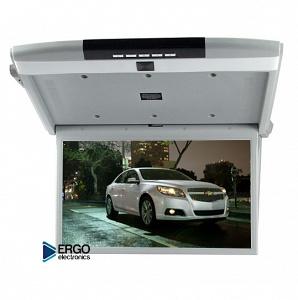 Автомобильный потолочный монитор 17.3 со встроенным Full HD медиаплеером ERGO ER17S (серый)