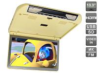 Автомобильный потолочный монитор 13.3 со встроенным FULL HD медиаплеером AVIS AVS440MPP (бежевый)