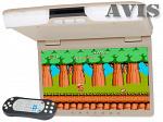 Автомобильный потолочный монитор 15,6 со встроенным DVD плеером AVIS AVS1520T (Бежевый)