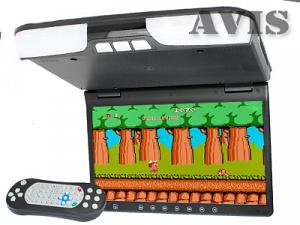 Автомобильный потолочный монитор 15,6 со встроенным DVD плеером AVIS AVS1520T (Черный)