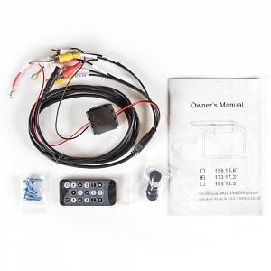 Автомобильный потолочный монитор 15.6 со встроенным Full HD медиаплеером ERGO ER156FH (серый)