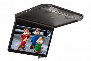 Автомобильный потолочный монитор 13.3 со встроенным Full HD медиаплеером ERGO ER13S (черный)