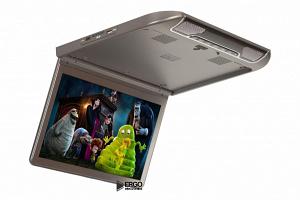 Автомобильный потолочный монитор 13.3 со встроенным Full HD медиаплеером ERGO ER13S (серый)