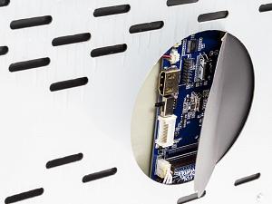 Потолочный монитор 15,6 с моторизованным приводом, встроенным FULL HD медиаплеером и Miracast AVIS Electronics AVS1250T (серый)