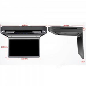 Автомобильный потолочный монитор 13.3 со встроенным Full HD медиаплеером ERGO ER13S-DVD (темно-серый)