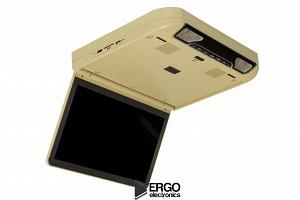 Автомобильный потолочный монитор 13.3 со встроенным Full HD медиаплеером ERGO ER13S-DVD (бежевый)