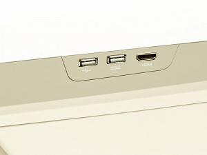 Бежевый потолочный монитор 15,6 с моторизованным приводом и встроенным FULL HD медиаплеером AVIS AVS1250T (бежевый)