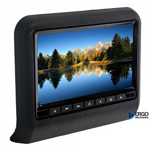 Навесной монитор на подголовник с диагональю 9 и встроенным DVD плеером ERGO ER9L