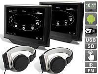 Комплект навесных мониторов на подголовник с диагональю 10.1 AVIS Electronics AVS1033AN (#03) на Android для автомобилей Audi A8 D4 (2010-...)
