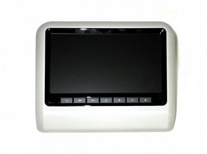 Навесной монитор на подголовник с диагональю 9 и встроенным DVD плеером ERGO ER9L (серый)