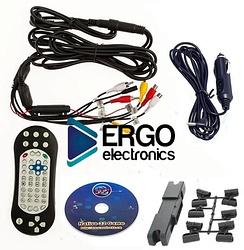 Навесной монитор на подголовник с диагональю 9 и встроенным DVD плеером ERGO ER9L (бежевый)