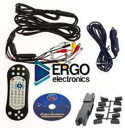 Навесной монитор на подголовник с диагональю 9 и встроенным DVD плеером ERGO ER9L (коричневый)