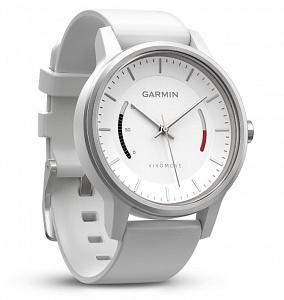 Garmin Vivomove Sport белые, спортивный ремешок