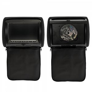 Комплект автомобильных DVD подголовников ERGO ER900HD (черный)