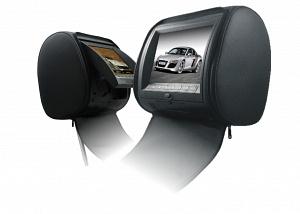 """Подголовник с монитором 9 и встроенным DVD плеером FarCar-Z009 (Black)"""""""