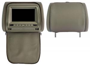 Комплект автомобильных DVD подголовников ERGO ER700HD (серый)