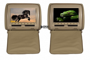 Комплект автомобильных DVD подголовников ERGO ER900HD (бежевый)