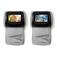 Комплект автомобильных DVD подголовников ERGO ER900HD (серый)