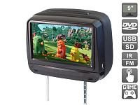 """Подголовник с сенсорным монитором 9 и встроенным DVD плеером AVIS Electronics AVS0945T (черный)"""""""