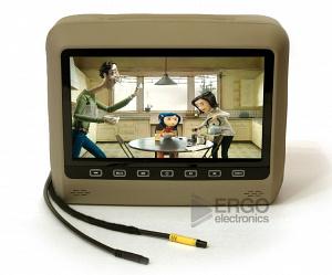 """Подголовник со встроенным DVD плеером и LCD монитором 9 ERGO ER9HD (Бежевый)"""""""