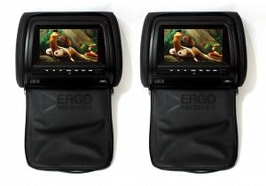 Комплект автомобильных подголовников ERGO ER700H (черный)
