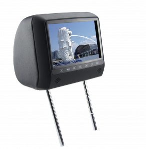 """Подголовник с монитором 7 и встроенным DVD плеером FarCar-Z006 (Black)"""""""