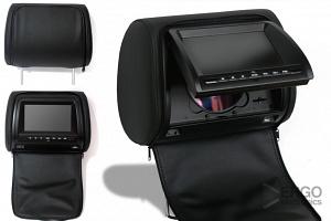 Комплект автомобильных DVD подголовников ERGO ER700HD (черный)