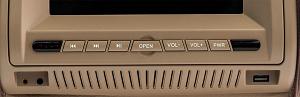 Комплект автомобильных DVD подголовников ERGO ER700HD (бежевый)