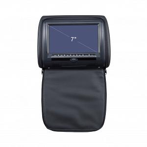 """Подголовник с монитором 7 и встроенным DVD плеером FarCar-Z008 (Black)"""""""