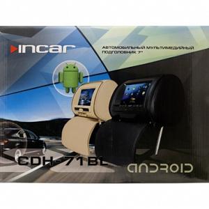 """Комплект автомобильных DVD подголовников 7 на застежках  Incar CDH-71 BL"""""""