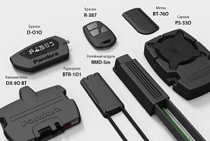 Pandora DX 90BT 2CAN-LIN+IMMO-key (2 брелока + метка ВТ-760 + реле BTR-101)