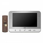 Комплект видеодомофона CTV-DP701 Серебро