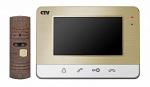 Комплект видеодомофона CTV-DP401 Шампань