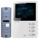 Комплект цветного видеодомофона CTV-DP1400M Белый