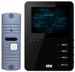 Комплект цветного видеодомофона CTV-DP1400M Черный